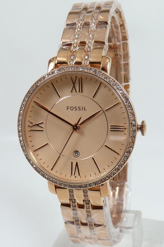 393be923341 Fossil women s watch ES3546 Jacqueline rose gold stainless steel ...