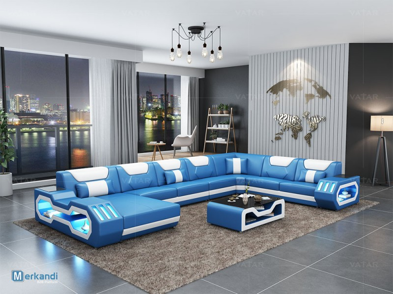 VATAR Modern Latest Living Room Italian Leather Sofa Design Foshan ...
